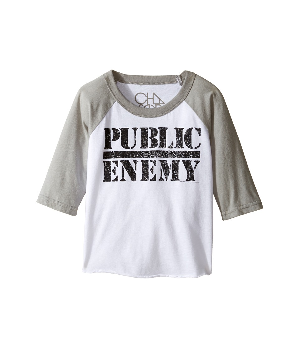 Chaser Kids - Vintage Baseball Tee (Toddler/Little Kids) (Public Enemy) Boy's T Shirt