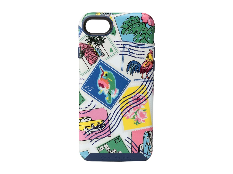 Vera Bradley - Hybrid Case for iPhone 7 (Cuban Stamps) Cell Phone Case