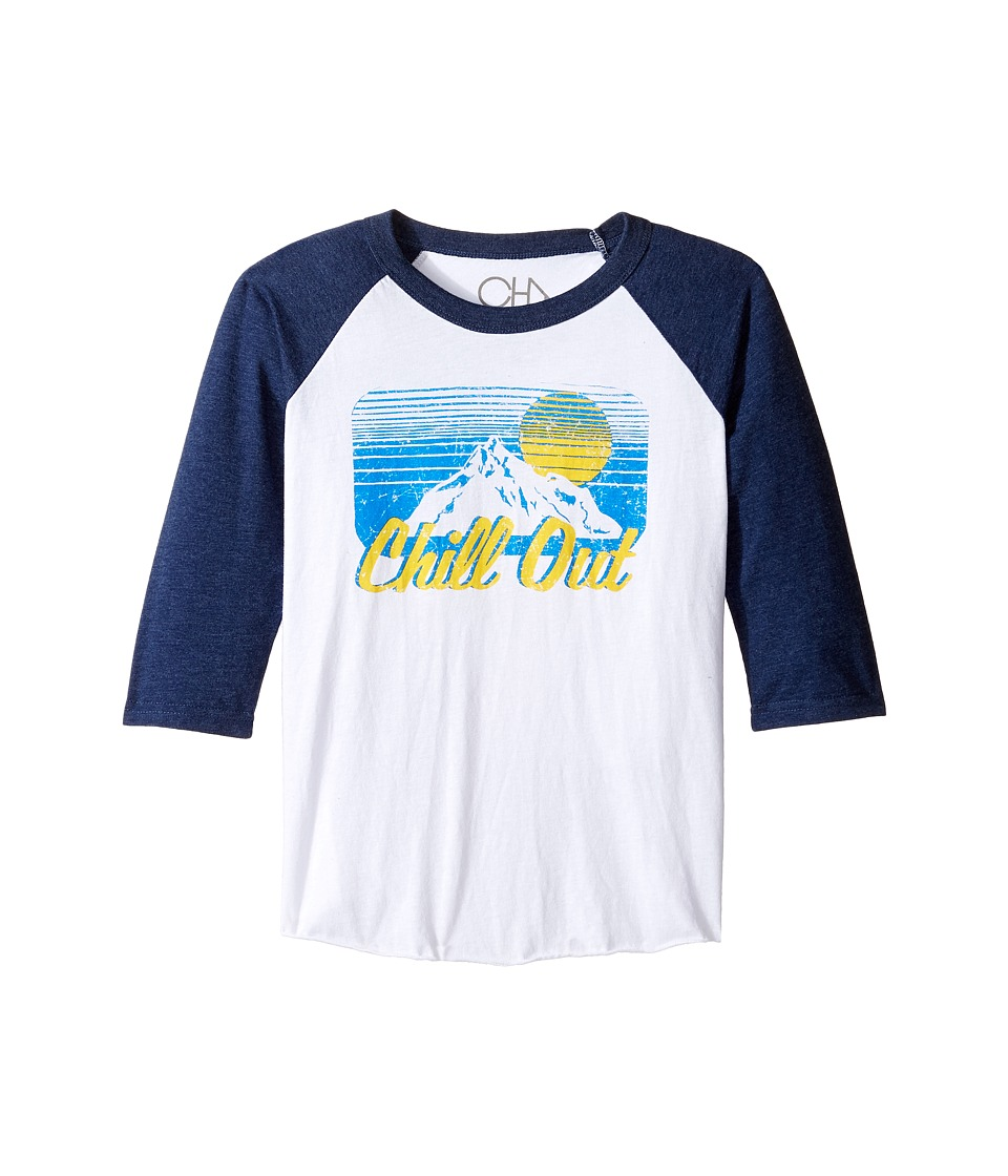 Chaser Kids - Vintage Baseball Tee (Little Kids/Big Kids) (Chill Out) Boy's T Shirt