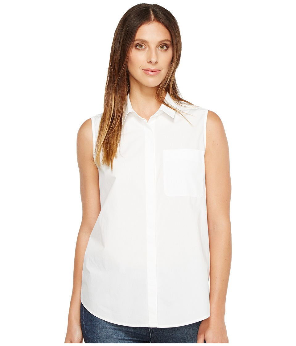 NYDJ - Cut Away Sleeveless Top (Optic White) Women's Sleeveless