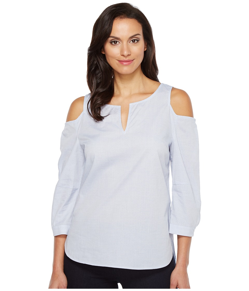 NYDJ - Agnes Colder Shoulder Top (Mid Ocean) Women's Clothing
