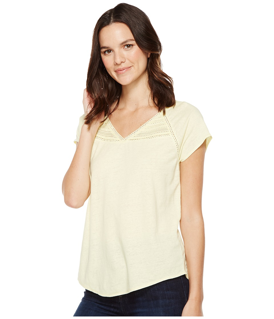 NYDJ - Lace Trim Knit Top (Soleil) Women's Clothing