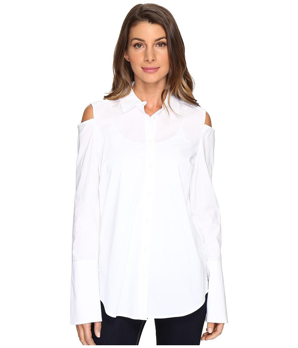 NYDJ - Cold Shoulder Shirt (Optic White) Women's Clothing