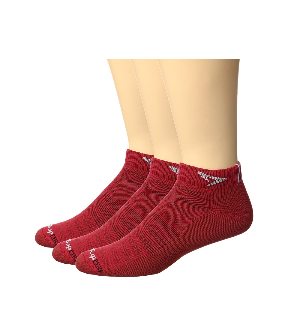 Drymax Sport - Running Lite Mesh Mini Crew 3-Pack (Torrid Red) Low Cut Socks Shoes