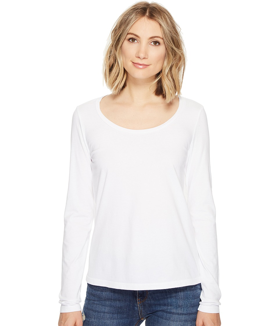 Three Dots - Scoop Neck (White) Women's Clothing