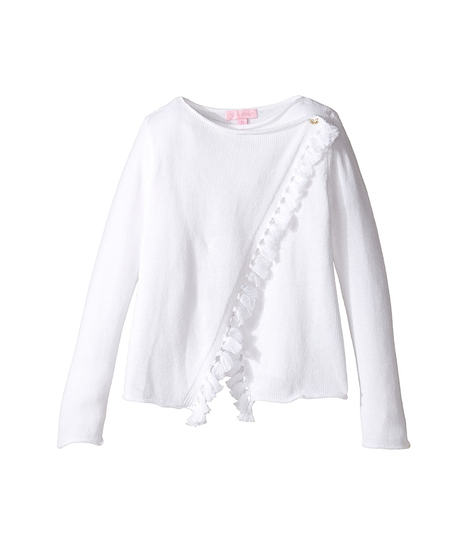 Lilly Pulitzer Kids - Mini Avenue Cardigan (Toddler/Little Kids/Big Kids) (Resort White) Girl's Sweater