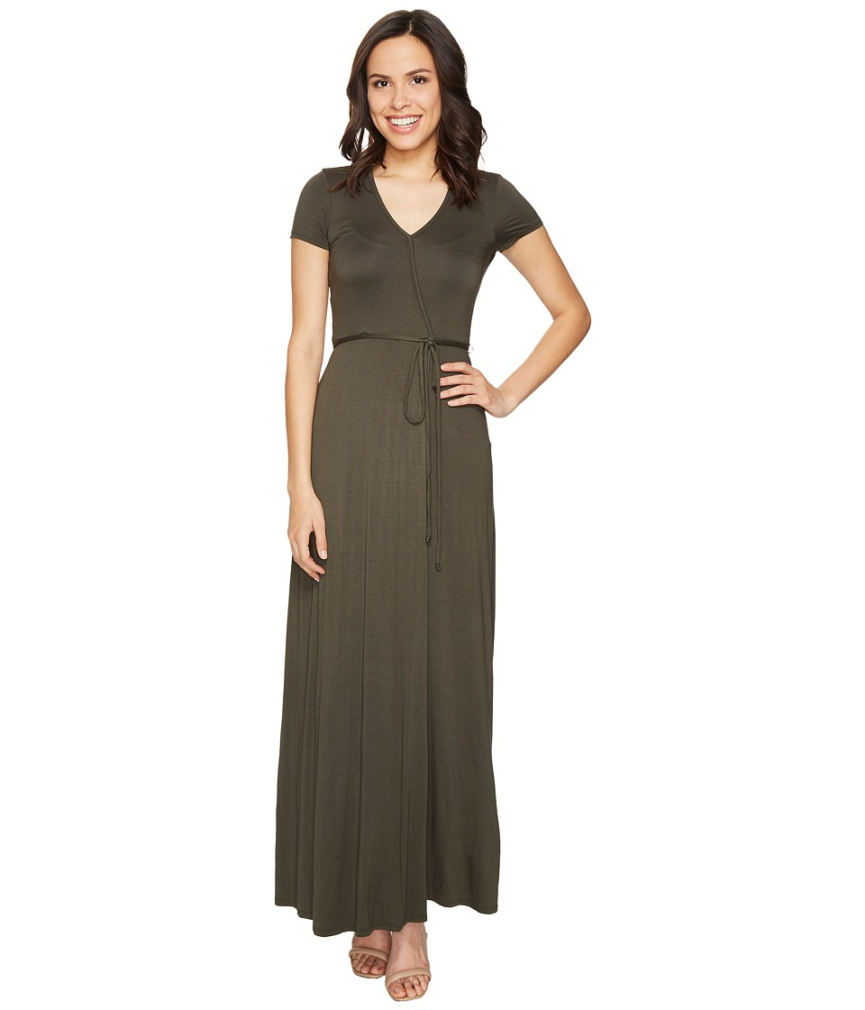 Three Dots - Wrap Dress (Tapenade) Women's Dress