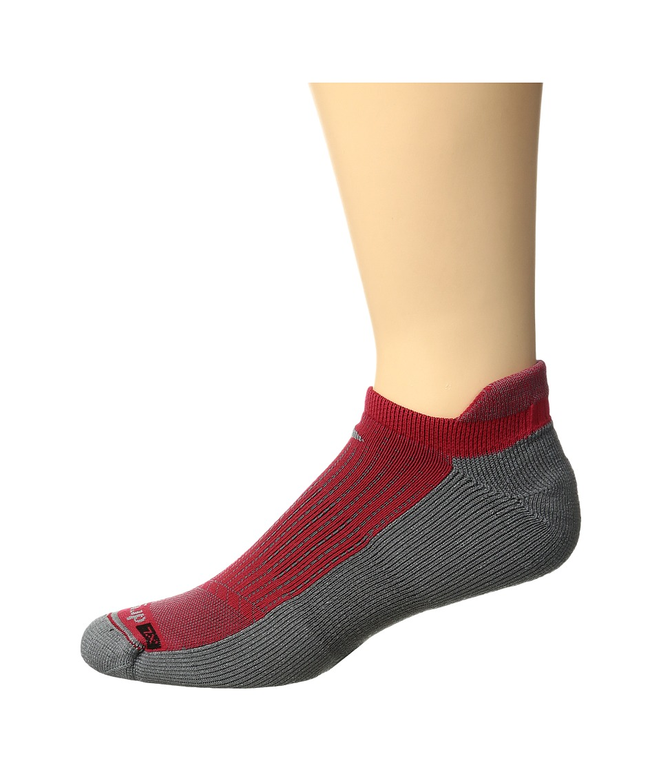 Drymax Sport - Running No Show Tab 3-Pack (Torrid Red/Anthracite) No Show Socks Shoes