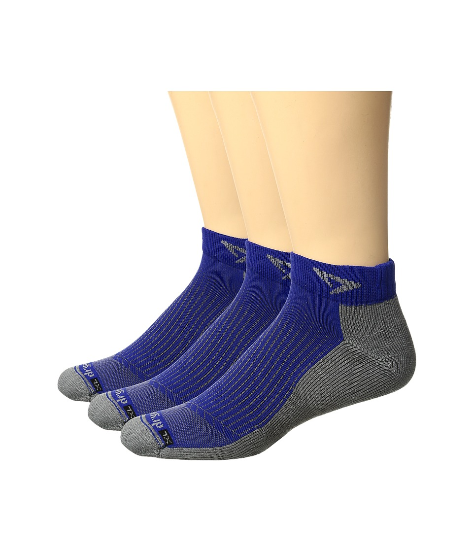 Drymax Sport - Running Mini Crew 3-pack (Royale/Anthracite) Crew Cut Socks Shoes
