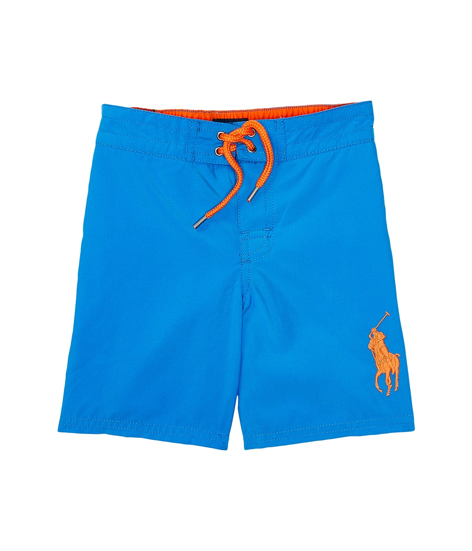Polo Ralph Lauren Kids - Poly Twill Sanibel Boardshorts (Toddler) (Jewel Blue) Boy's Swimwear