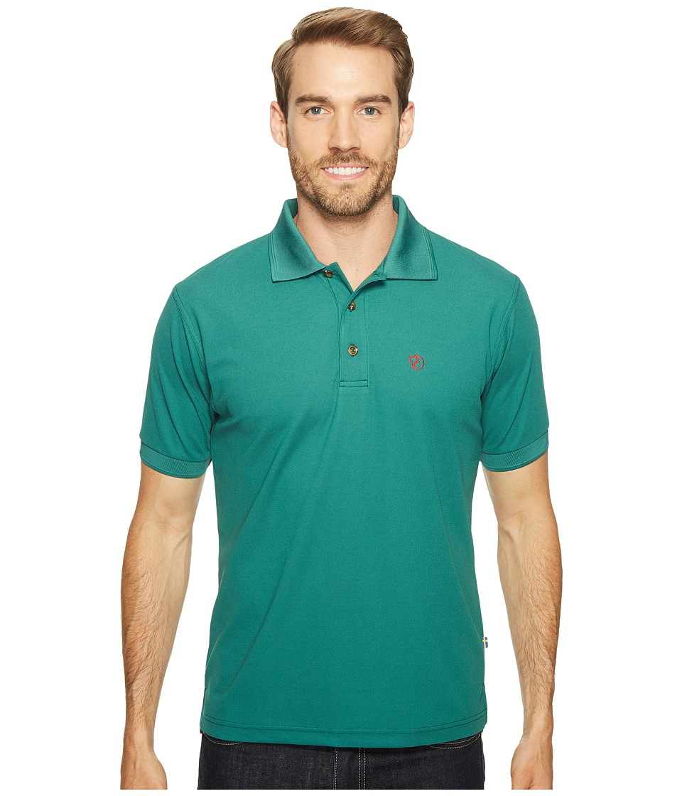 Fjallraven - Crowley Pique Shirt (Copper Green) Men's Short Sleeve Pullover