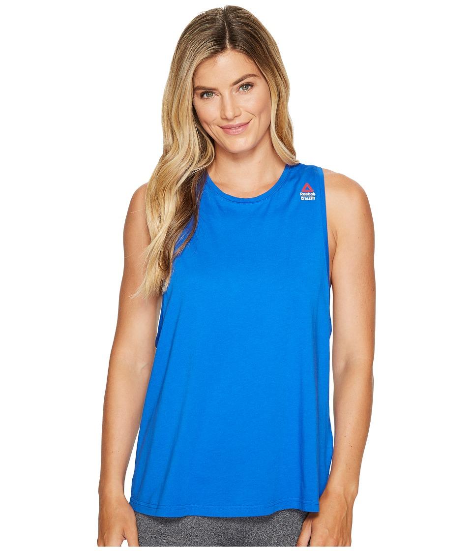 Reebok - CrossFit(r) Muscle Tank - Sprayed (Vital Blue) Women's Workout