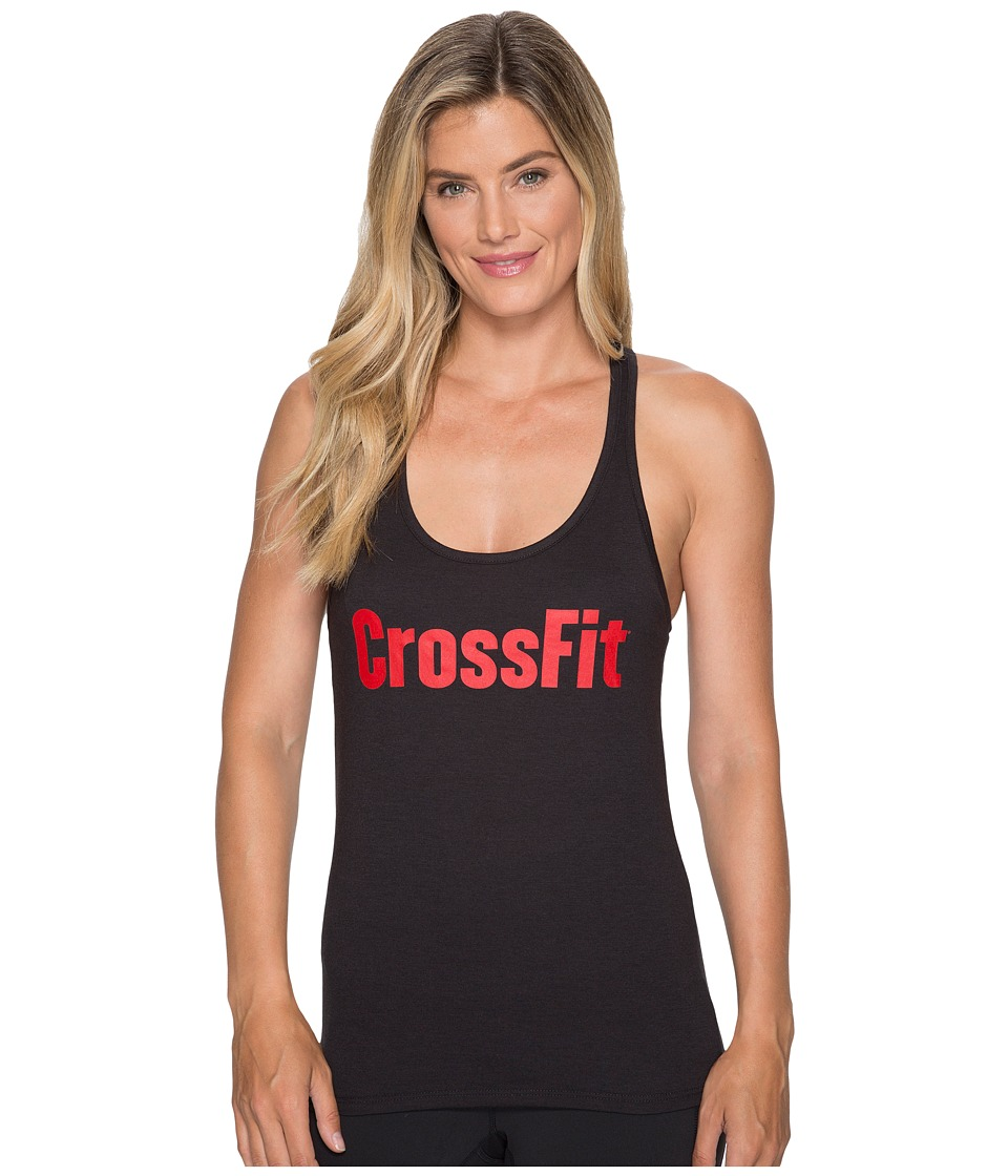 Reebok - CrossFit(r) Forging Elite Fitness Tank (Black/Primal Red) Women's Workout