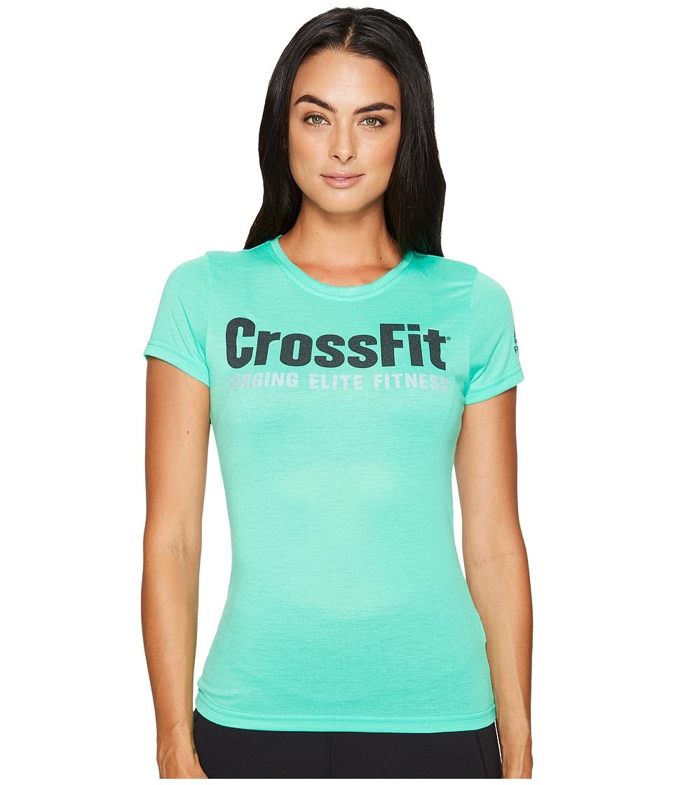 Reebok - CrossFit(r) Forging Elite Fitness Speedwick Tee (Bright Emerald) Women's Workout