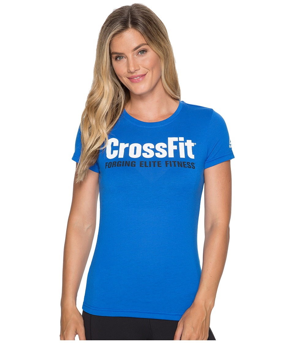 Reebok - CrossFit(r) Forging Elite Fitness Speedwick Tee (Vital Blue) Women's Workout
