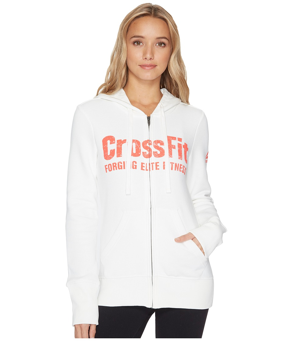 Reebok - CrossFit(r) Full Zip Hoodie (Chalk) Women's Sweatshirt