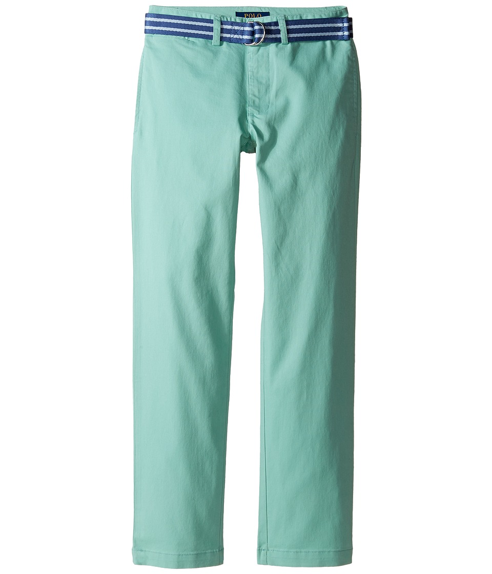 Polo Ralph Lauren Kids - Stretch Chino Suffield Pants (Big Kids) (Offshore Green) Boy's Casual Pants