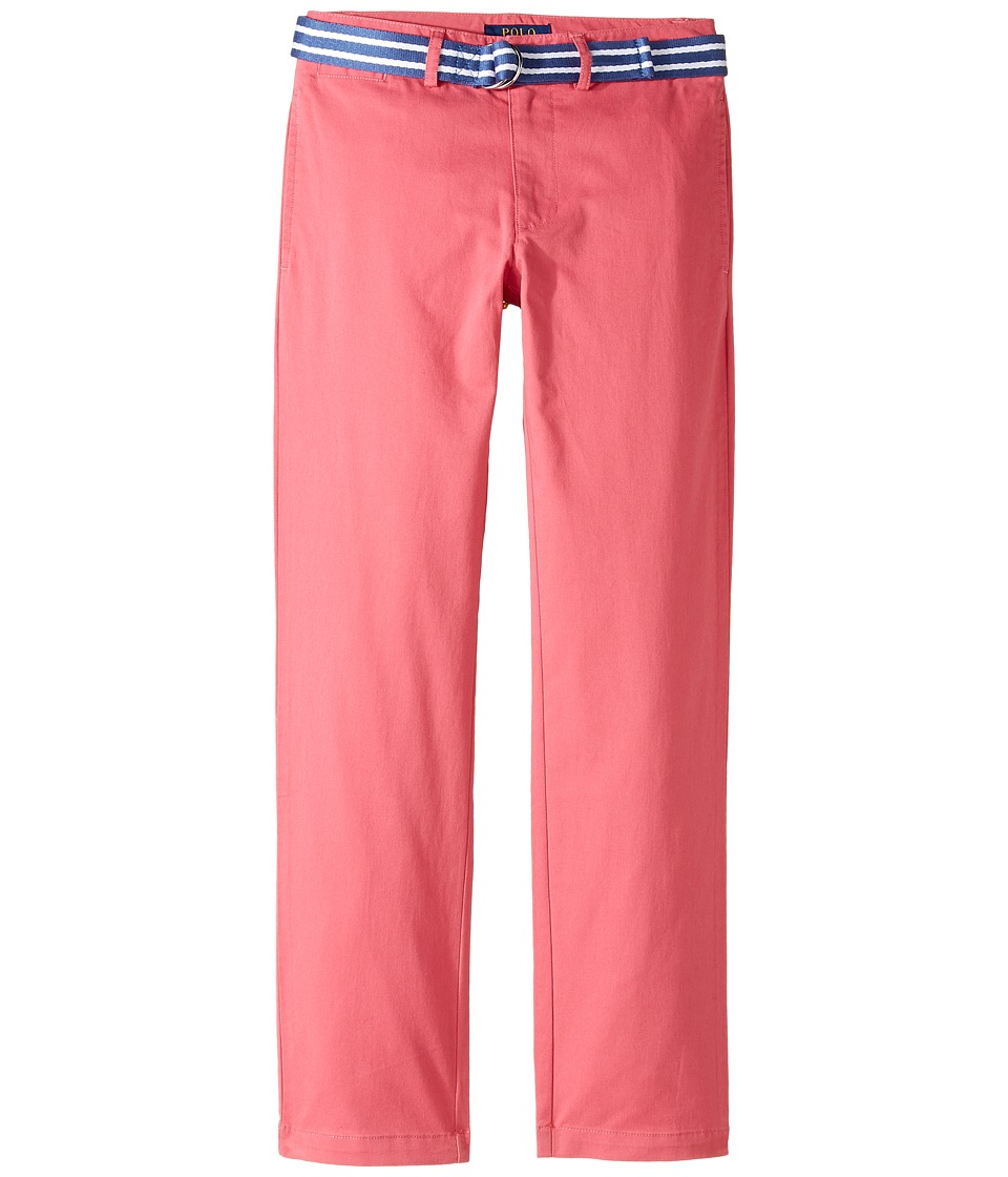 Polo Ralph Lauren Kids - Stretch Chino Suffield Pants (Big Kids) (Red Coral) Boy's Casual Pants