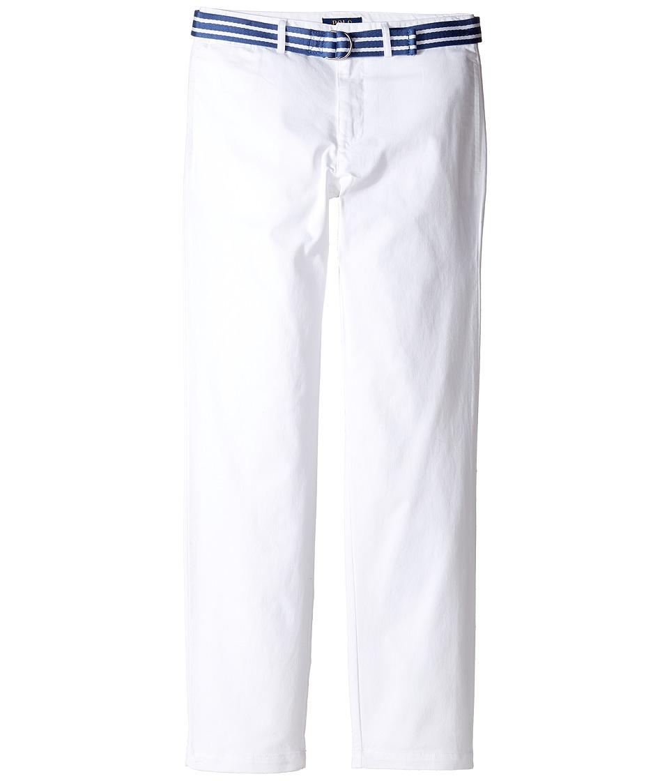 Polo Ralph Lauren Kids - Stretch Chino Suffield Pants (Big Kids) (White) Boy's Casual Pants