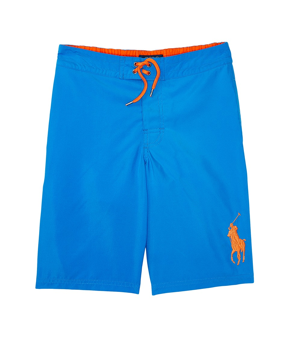 Polo Ralph Lauren Kids - Poly Twill Sanibel Boardshorts (Big Kids) (Jewel Blue) Boy's Swimwear