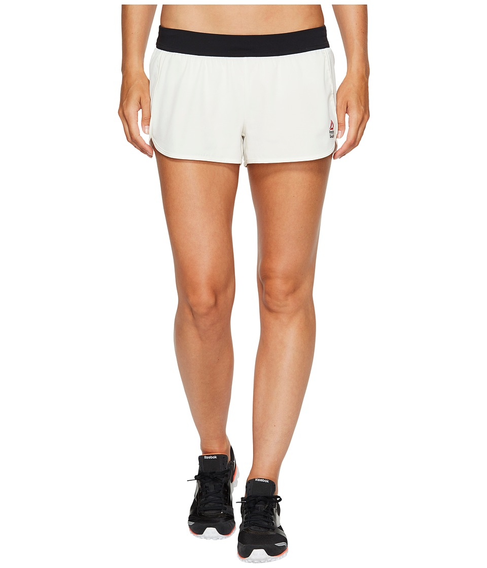 Reebok - CrossFit(r) Knit Woven Shorts (Chalk) Women's Shorts