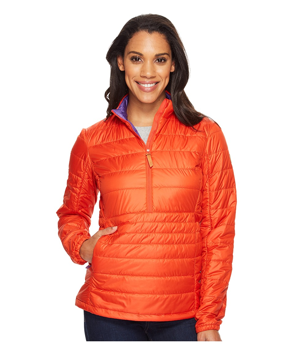 Fjallraven - Abisko Padded Pullover (Flame Orange/Purple) Women's Coat
