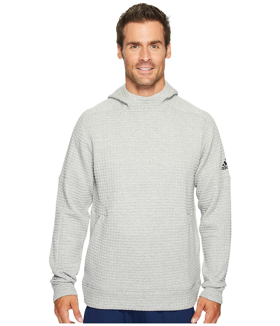 adidas - Squad ID Full Zip Hoodie (Medium Grey Heather) Men's Sweatshirt