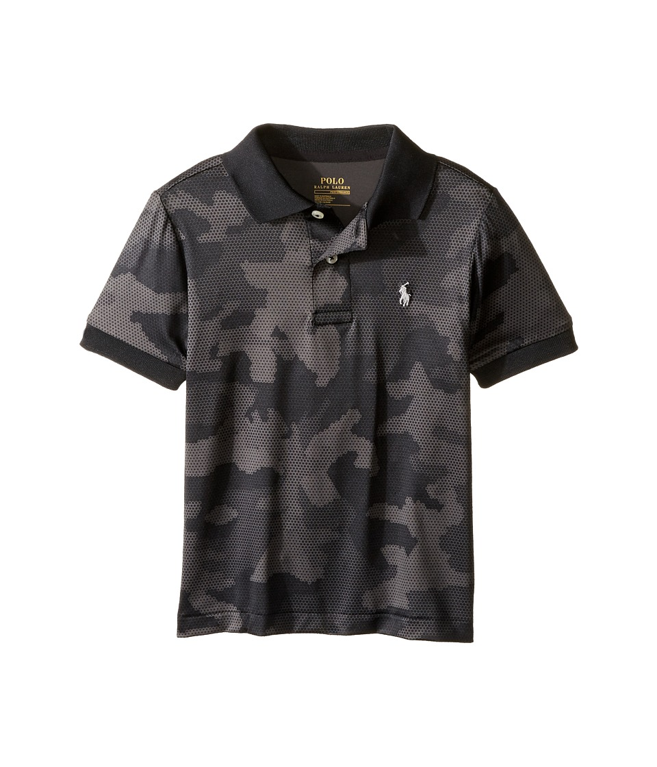Polo Ralph Lauren Kids - Performance Lisle Short Sleeve Cut Sew Knit Top (Toddler) (Grey Camo) Boy's Short Sleeve Pullover