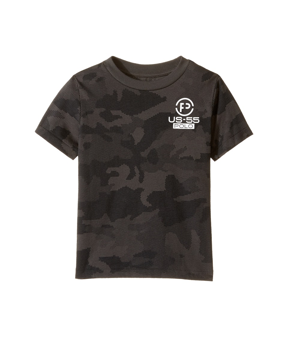 Polo Ralph Lauren Kids - Cotton Poly Graphic Crew T-Shirt (Toddler) (Black Camo) Boy's T Shirt