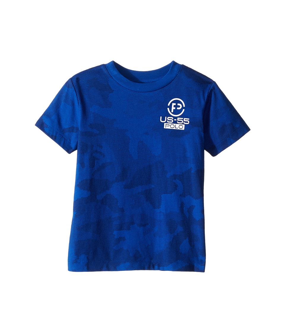 Polo Ralph Lauren Kids - Cotton Poly Graphic Crew T-Shirt (Toddler) (Royal Multi) Boy's T Shirt