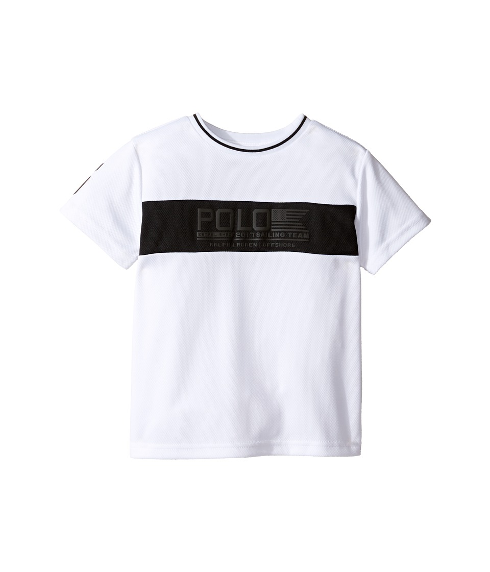Polo Ralph Lauren Kids - Mesh Printed Crew Neck T-Shirt (Toddler) (White) Boy's T Shirt