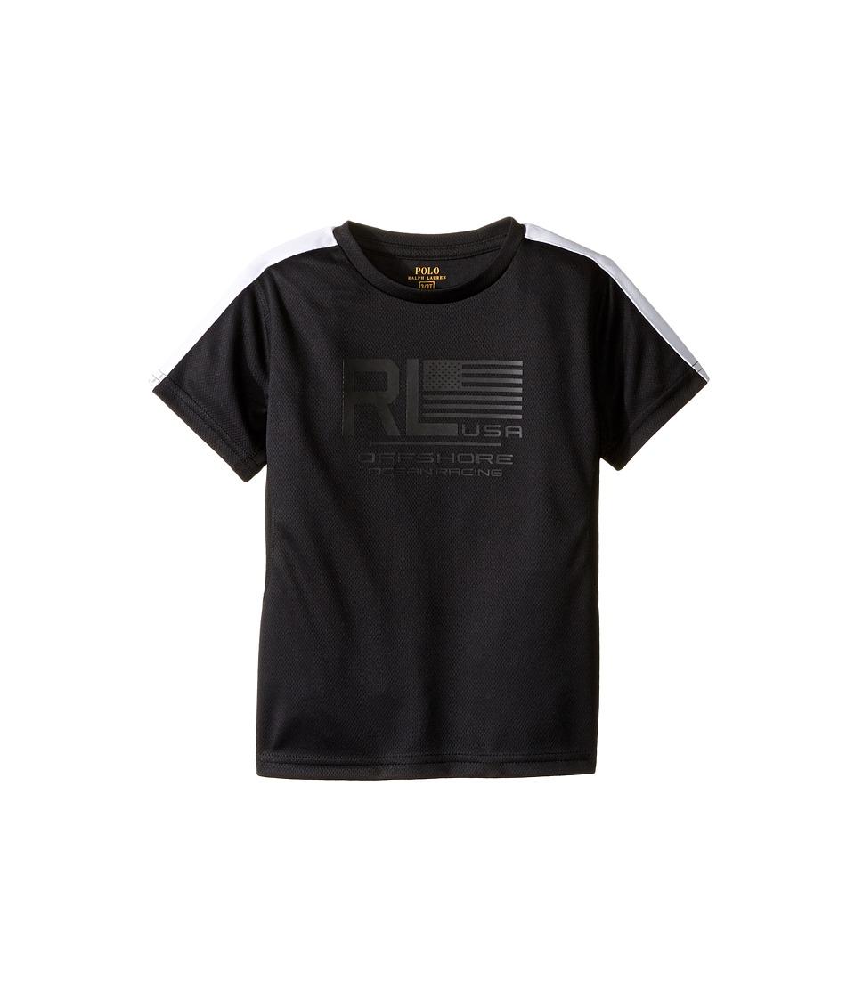 Polo Ralph Lauren Kids - Mesh Short Sleeve Crew Neck T-Shirt (Toddler) (Polo Black) Boy's T Shirt