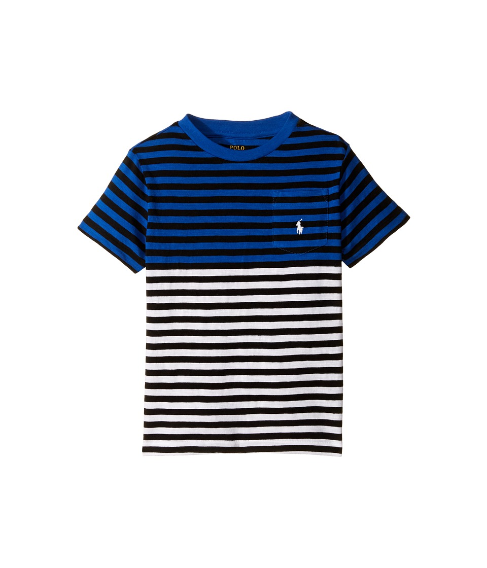 Polo Ralph Lauren Kids - Yarn-Dyed Slub Jersey Pocket Tee (Toddler) (Marbella Blue Multi) Boy's T Shirt