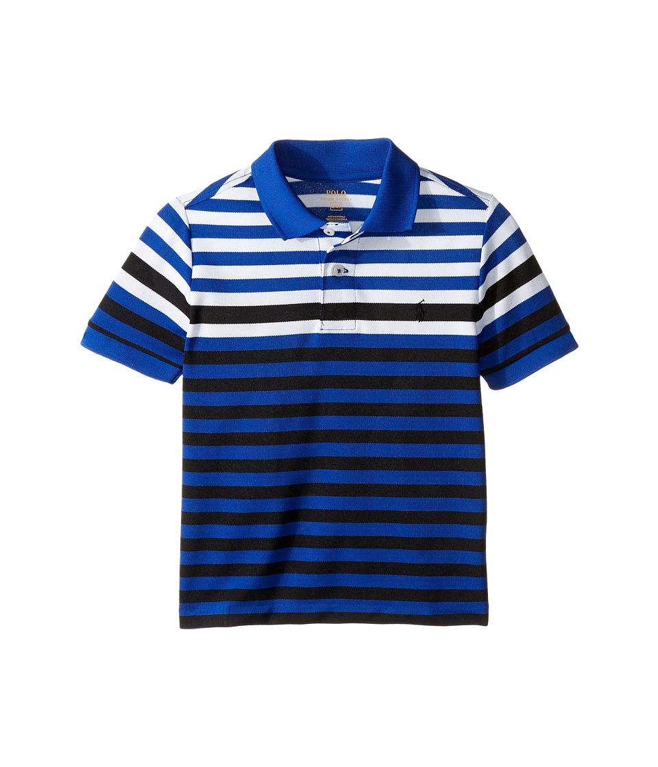 Polo Ralph Lauren Kids - Yarn-Dyed Tech Mesh Short Sleeve Polo (Toddler) (Marbella Blue Multi) Boy's Short Sleeve Pullover