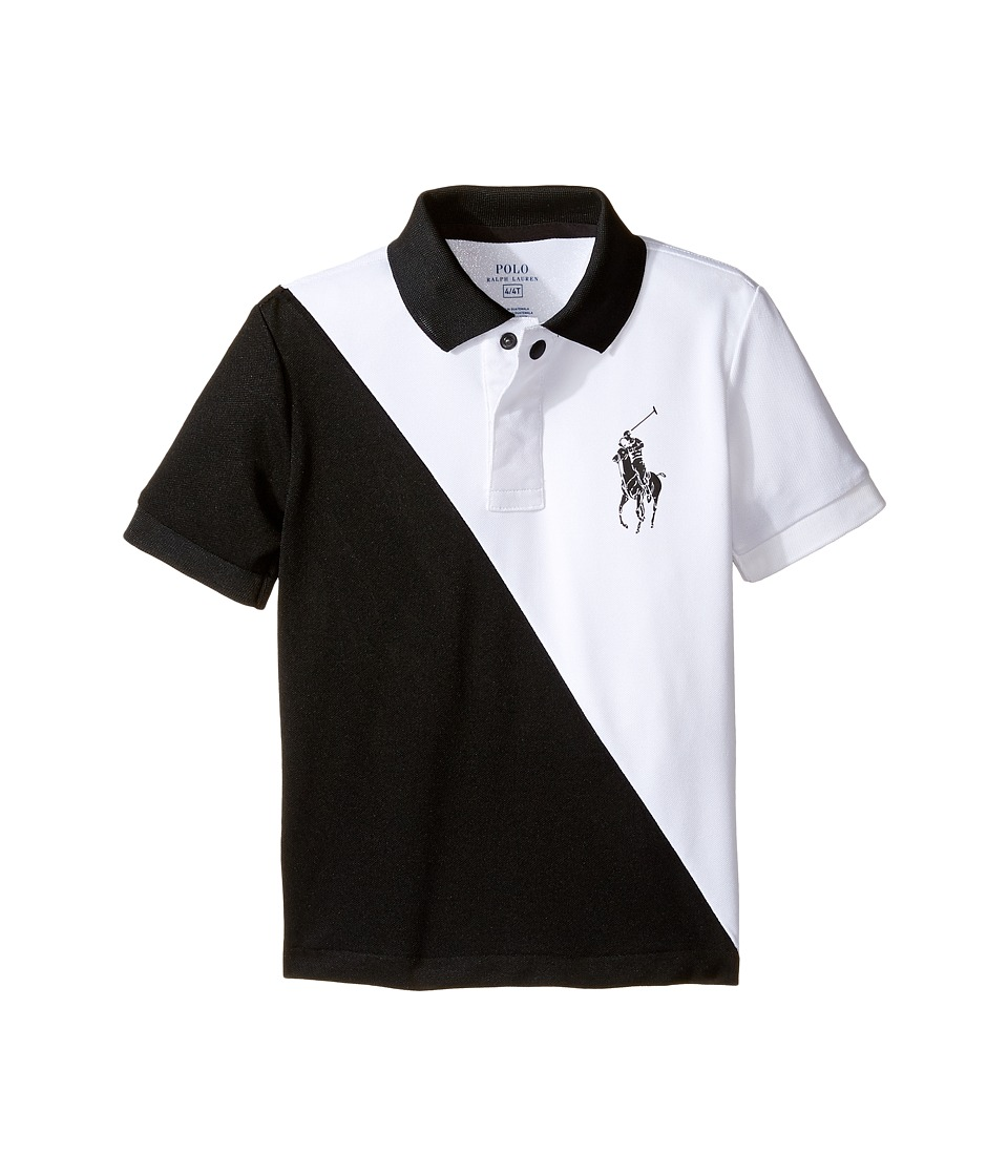 Polo Ralph Lauren Kids - Tech Mesh Banner Polo (Toddler) (Pure White) Boy's Short Sleeve Pullover
