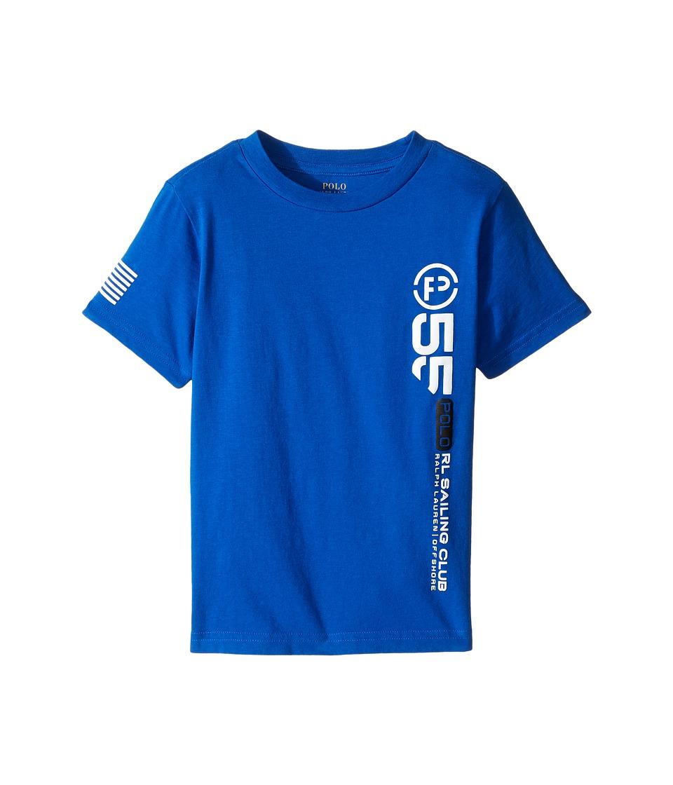 Polo Ralph Lauren Kids - 30/1 Jersey Graphic Tee (Toddler) (Marbella Blue) Boy's T Shirt