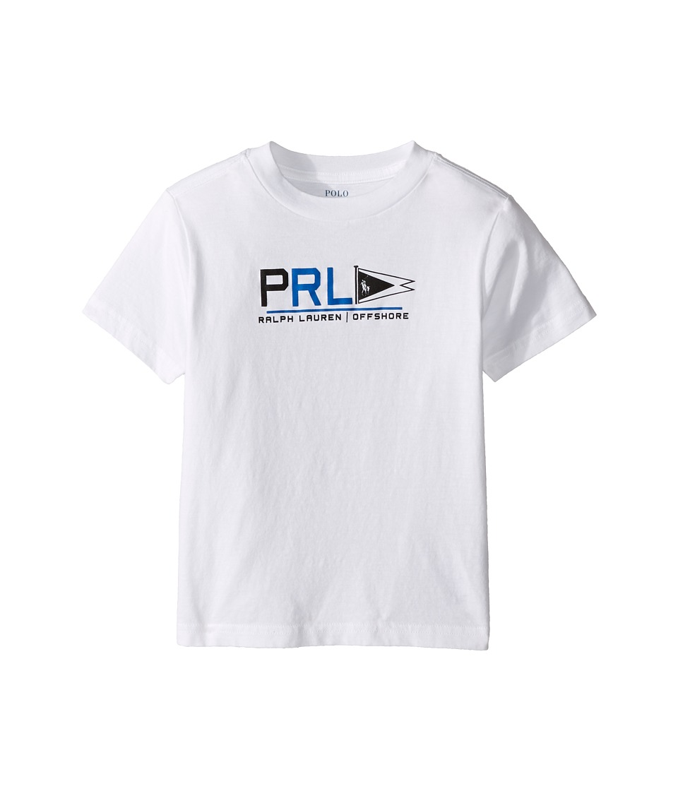 Polo Ralph Lauren Kids - 30/1 Jersey Graphic Tee (Toddler) (Pure White) Boy's T Shirt