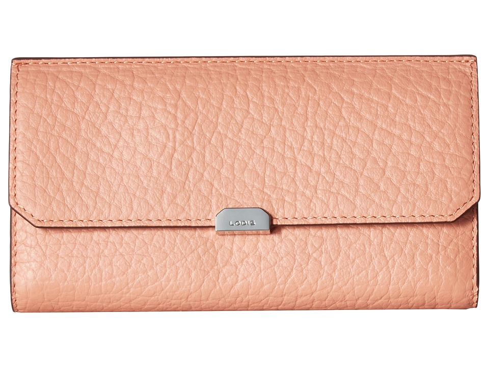 Lodis Accessories - Borrego RFID Under Lock Key Amanda Continental Clutch (Blush) Clutch Handbags