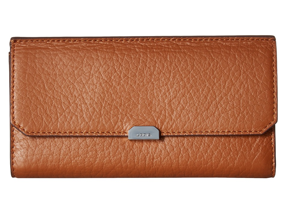 Lodis Accessories - Borrego RFID Under Lock Key Amanda Continental Clutch (Toffee) Clutch Handbags