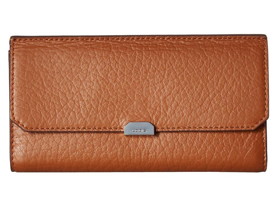 Lodis Accessories - Borrego RFID Under Lock Key Amanda Continental Clutch (Toffee) Clutch Handbags