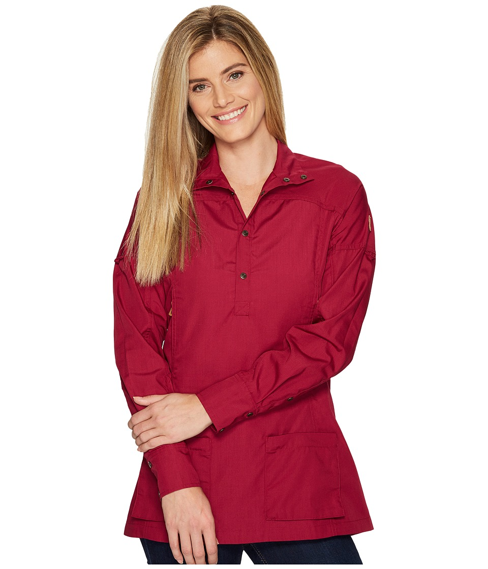 Fjallraven - Abisko Shade Tunic (Plum) Women's Short Sleeve Button Up