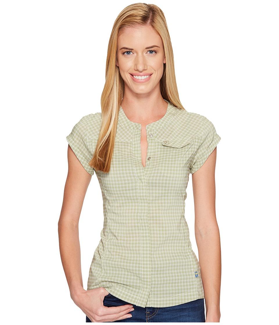 Fjallraven - Abisko Stretch Shirt Short Sleeve (Willow) Women's Short Sleeve Button Up