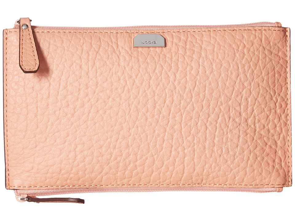 Lodis Accessories - Borrego RFID Under Lock Key Lani Double Zip Pouch (Blush) Travel Pouch