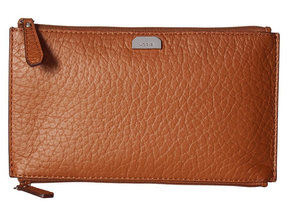 Lodis Accessories - Borrego RFID Under Lock Key Lani Double Zip Pouch (Toffee) Travel Pouch