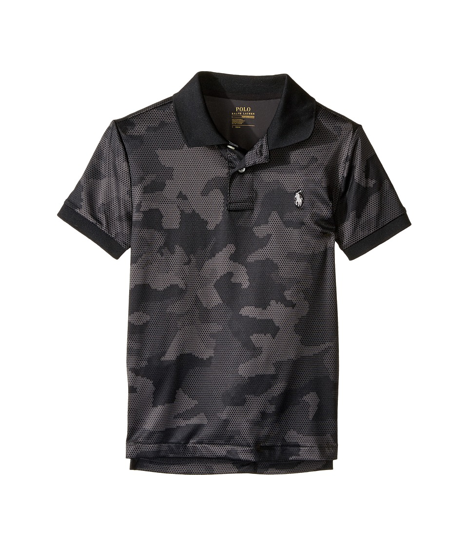 Polo Ralph Lauren Kids - Performance Lisle Short Sleeve Cut Sew Knit Top (Little Kids/Big Kids) (Grey Camo) Boy's Short Sleeve Pullover