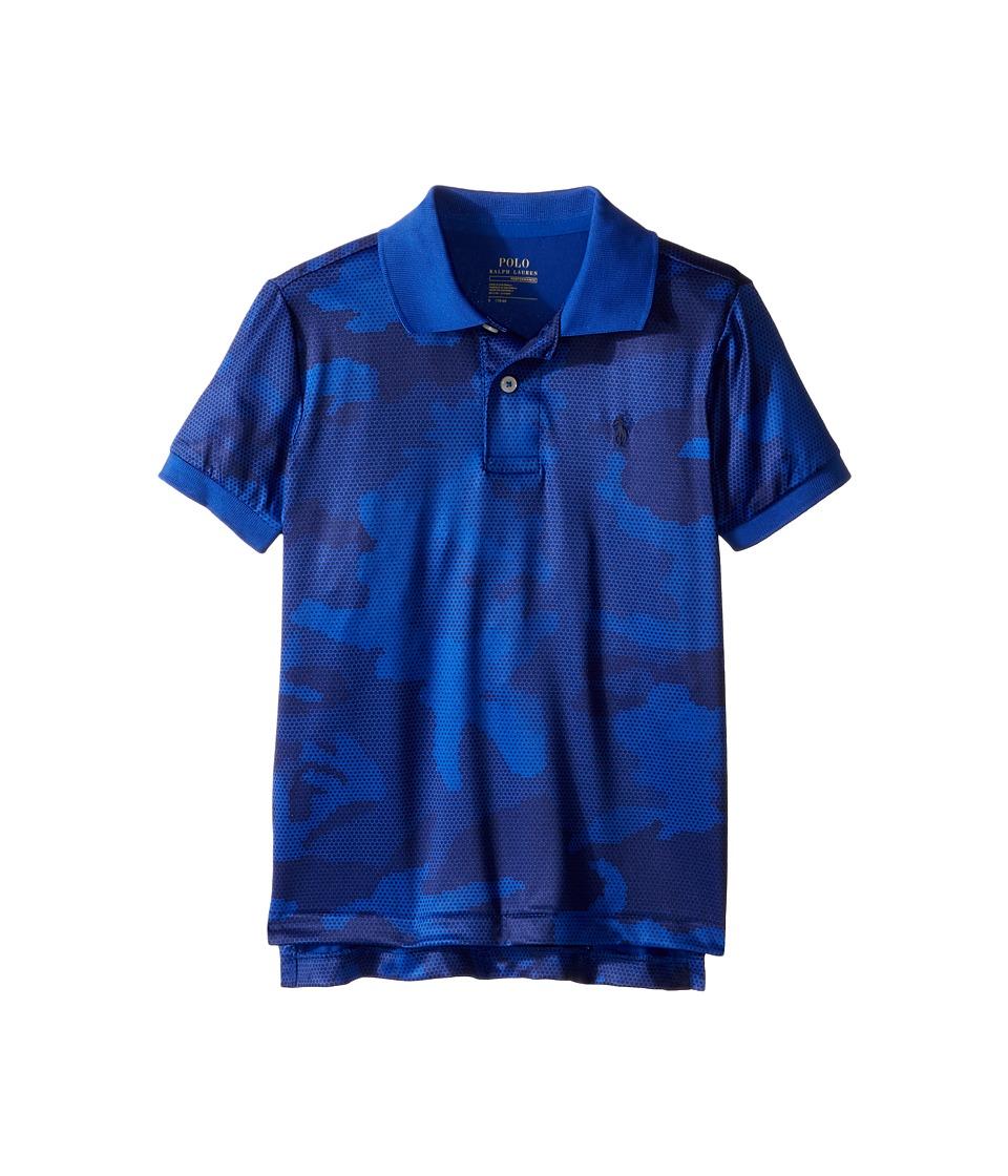 Polo Ralph Lauren Kids - Performance Lisle Short Sleeve Cut Sew Knit Top (Little Kids/Big Kids) (Blue Camo) Boy's Short Sleeve Pullover