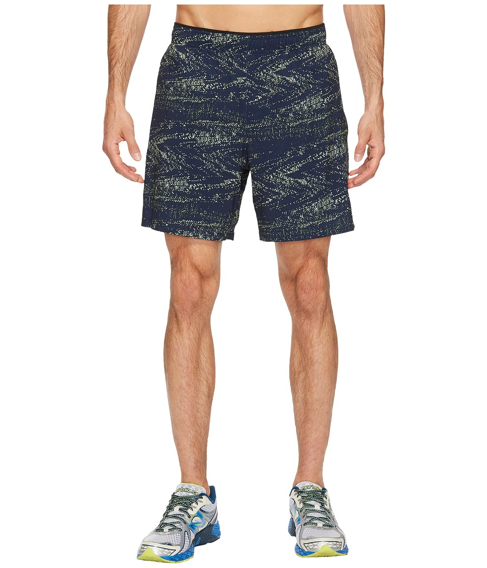 New Balance - 2-in-1 Shorts Graphic (Pigment Interference Stripe/Energy Lime) Men's Shorts