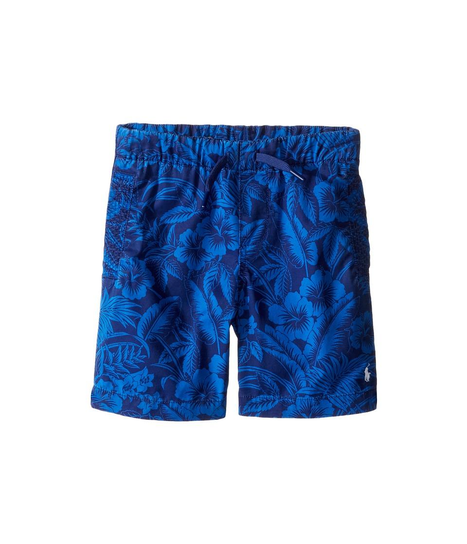 Polo Ralph Lauren Kids - Parachute Poplin Pull-On Shorts (Little Kids) (Blue Multi) Boy's Shorts