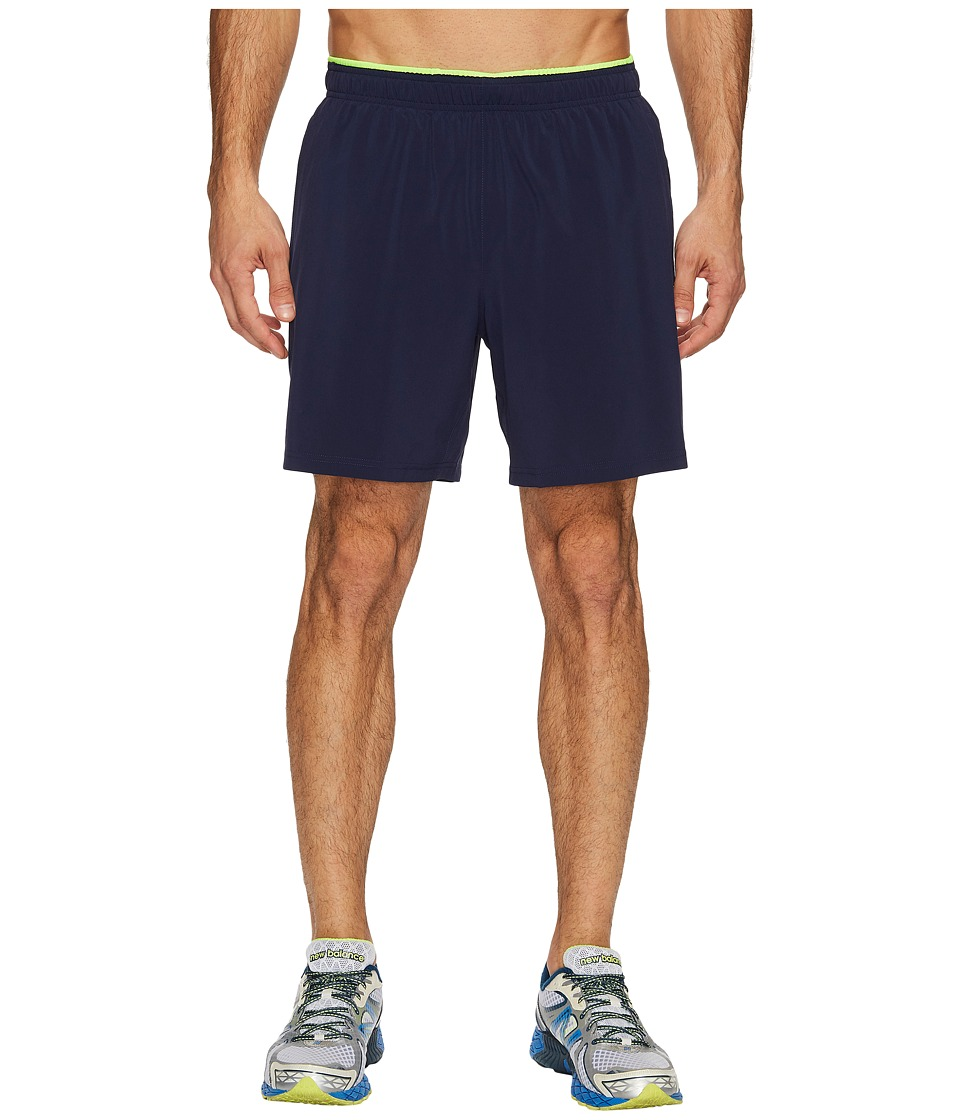New Balance - Woven 2-in-1 Shorts (Pigment/Energy Lime) Men's Shorts