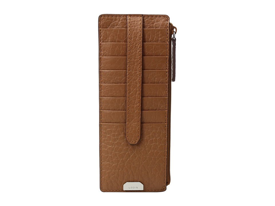 Lodis Accessories - Borrego RFID Under Lock Key Credit Card Case with Zipper Pocket (Toffee) Credit card Wallet